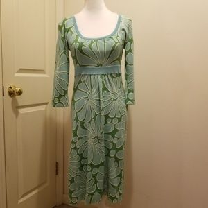 Boden Floral Shift Sheath Dress w/matching slip 4R